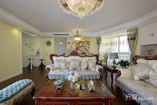 160㎡欧式风格三居装修沙发设计图