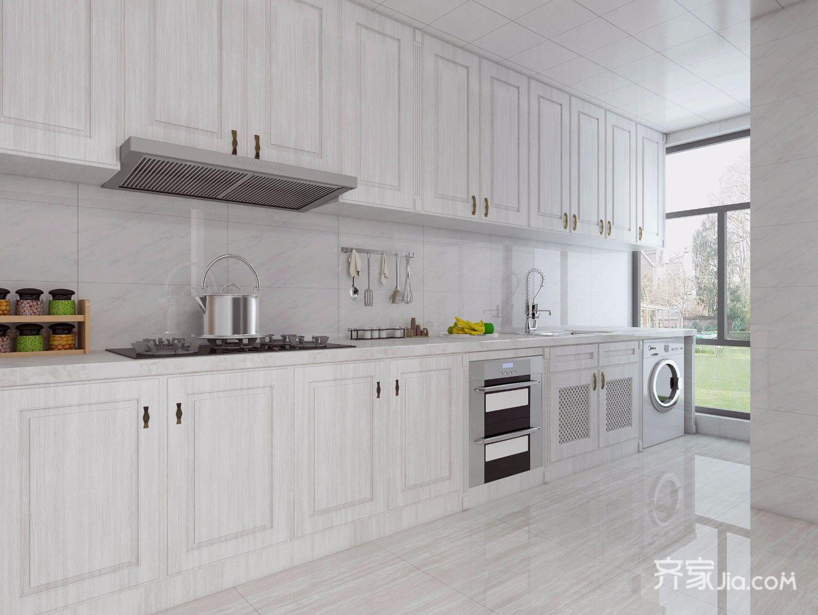 148平现代简约三居厨房装修效果图