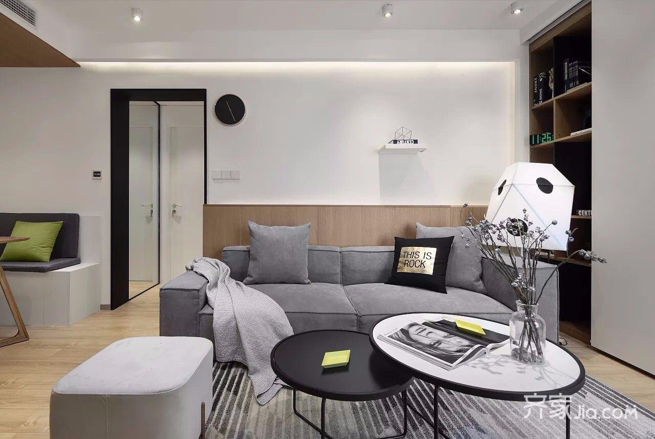小户型简约风格二居客厅装修设计图