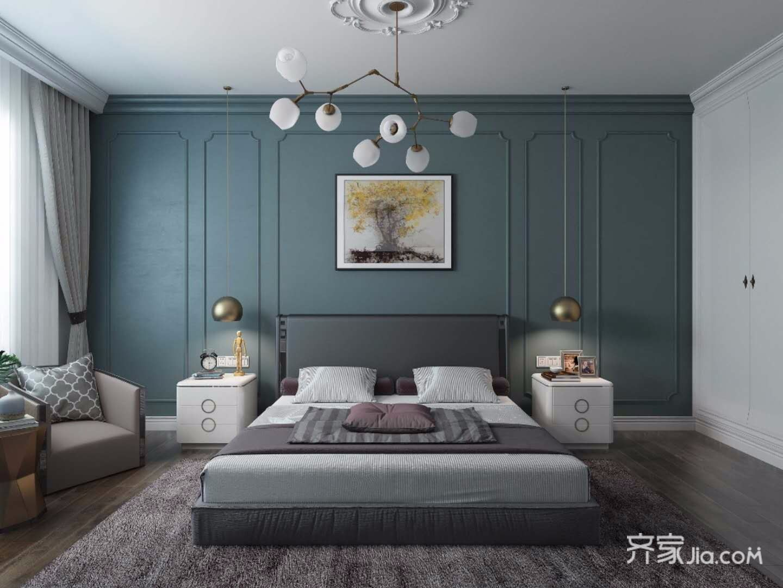 120㎡混搭风格三居卧室装修效果图