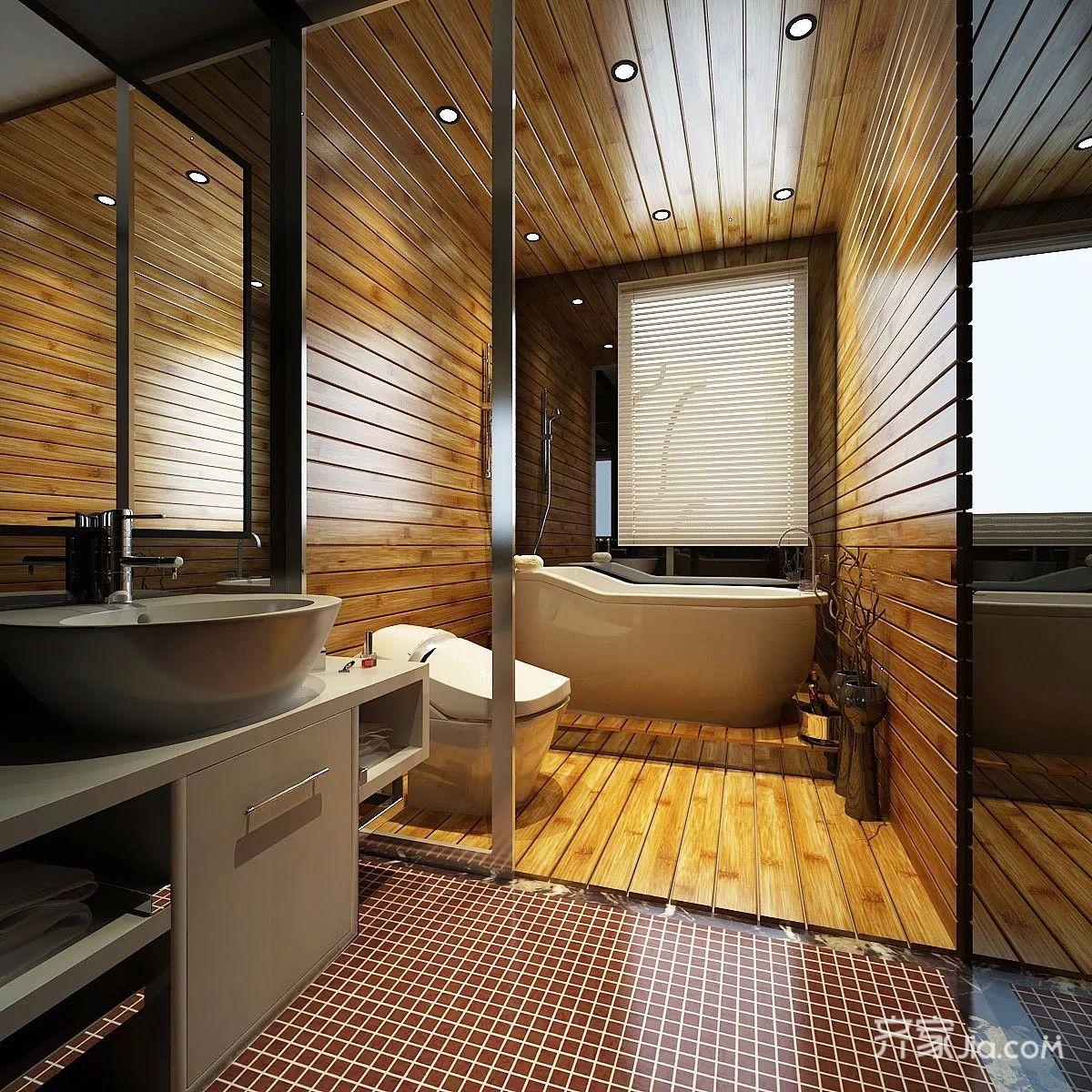 豪华美式风格三居卫生间装修效果图
