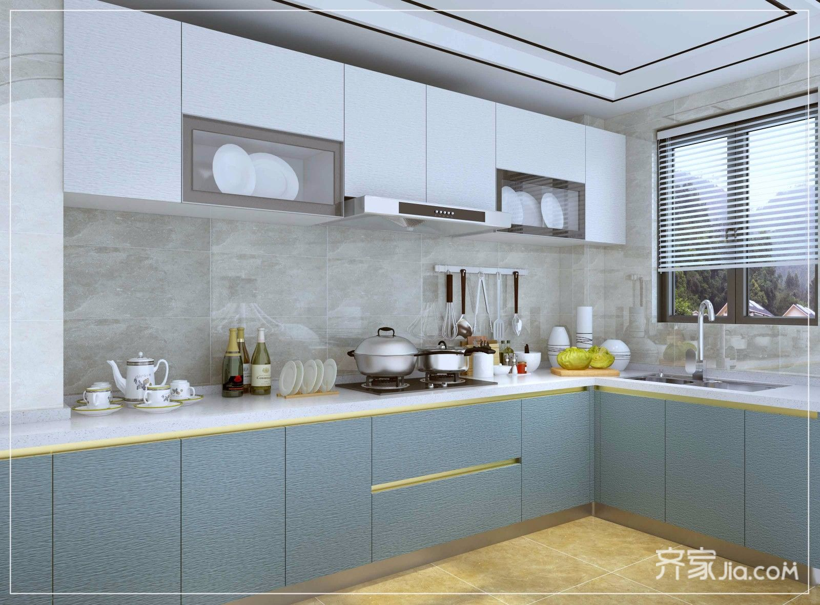 110平现代风三居室厨房装修效果图