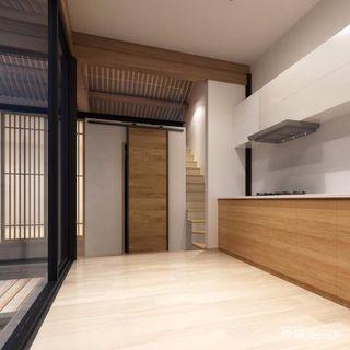 120平米简约日式风厨房装修效果图