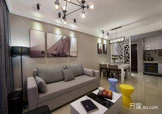 89平现代简约风三居装修沙发设计图