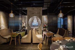 中式混搭工业风茶餐厅装修效果图