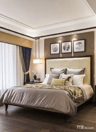 108㎡新中式三居卧室装修效果图