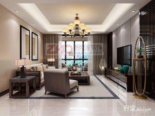 108㎡新中式三居装修效果图