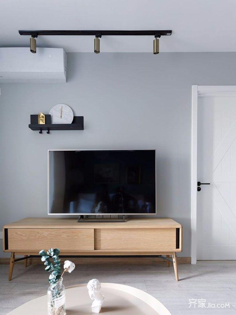 小户型北欧风格二居电视背景墙装修效果图