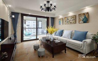 130平现代美式三居装修效果图