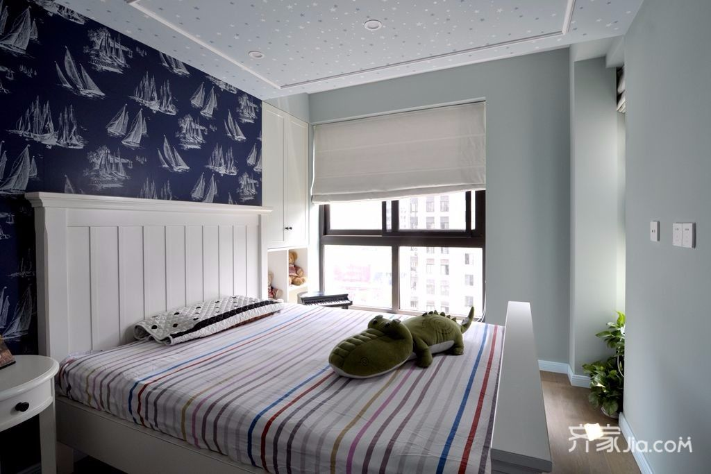 简约美式风格两居卧室装修效果图