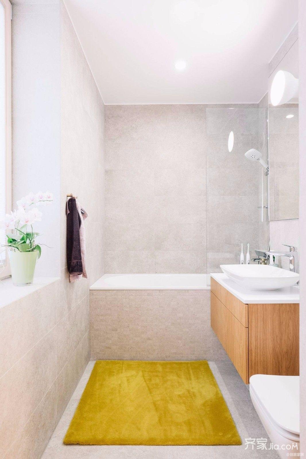 极简风格三居室卫生间装修效果图