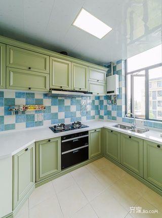 135㎡美式风格三居厨房装修效果图