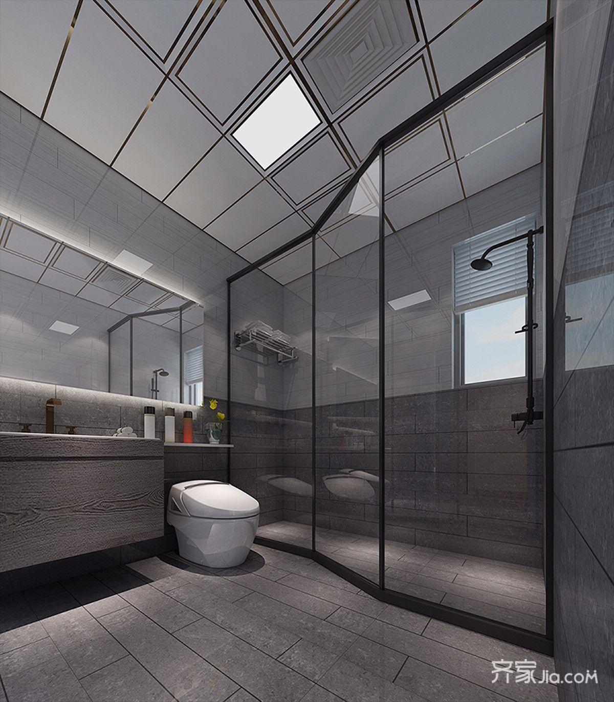 130平北欧风格四居卫生间装修效果图