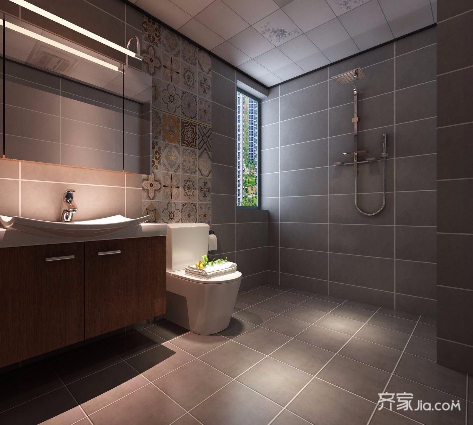 100㎡欧式风格两居卫生间装修效果图