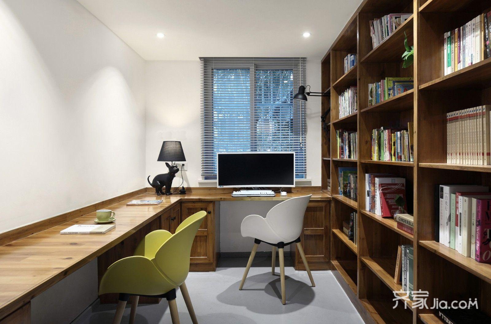 150平米简约复式装修书房效果图