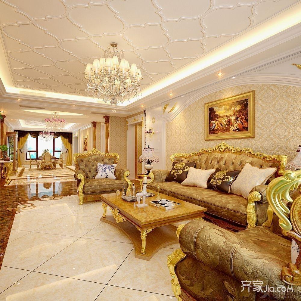 大户型欧式风格客厅装修设计效果图