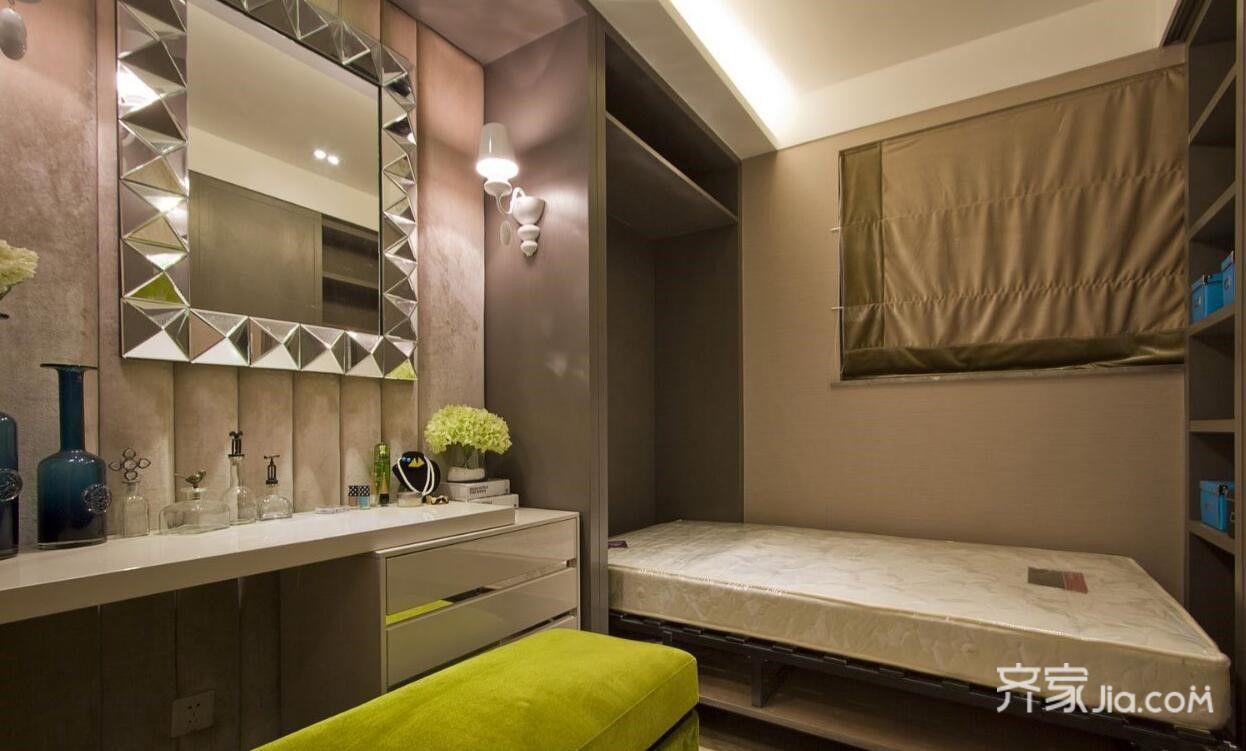 75㎡现代风格二居装修梳妆台设计图
