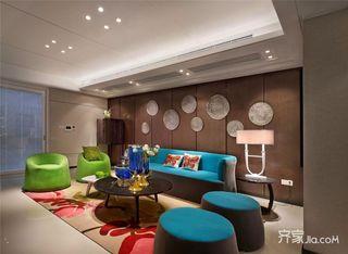 150平现代时尚三居装修效果图