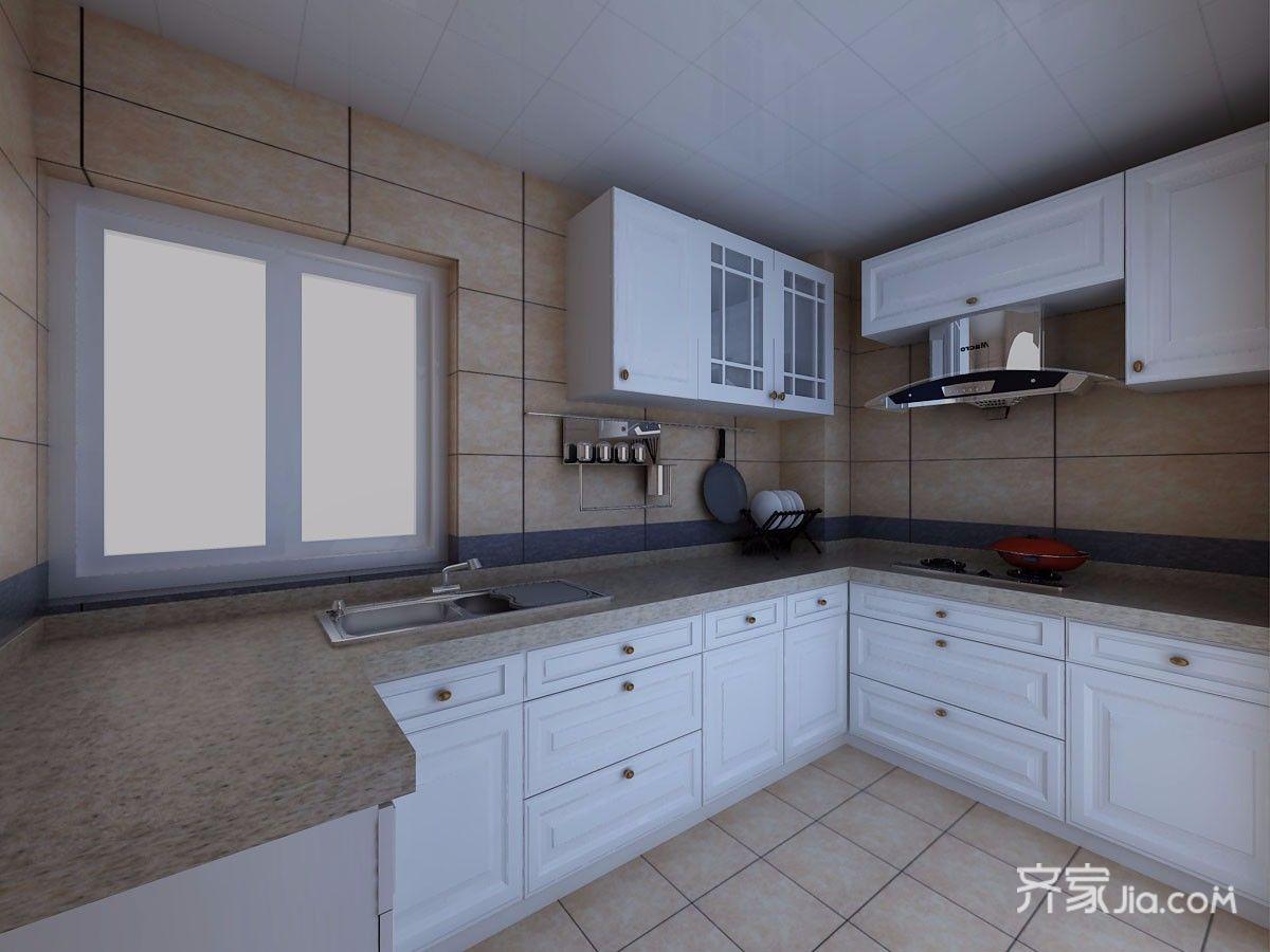 92㎡现代简约三居厨房装修效果图