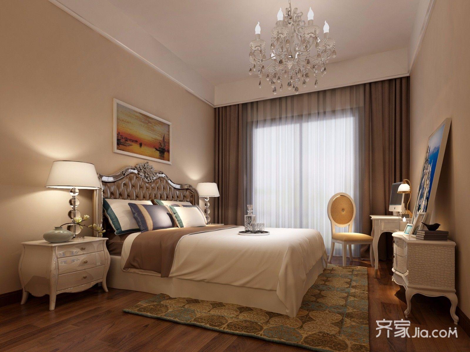178平欧式风格三居卧室装修搭配图