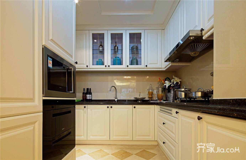 178平欧式风格三居装修厨房布局图