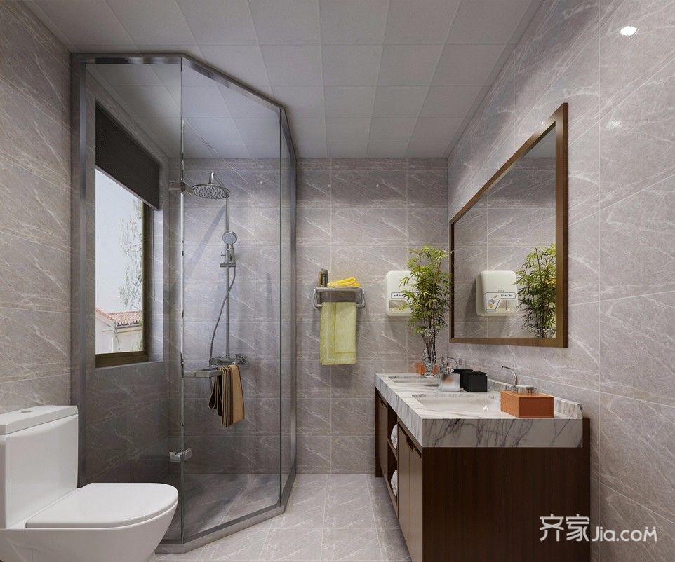 80㎡简约风格两居卫生间装修效果图