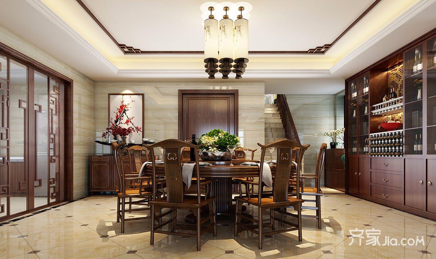 大户型复式中式餐厅装修效果图