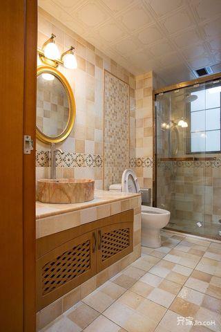 大户型美式乡村装修浴室柜设计图