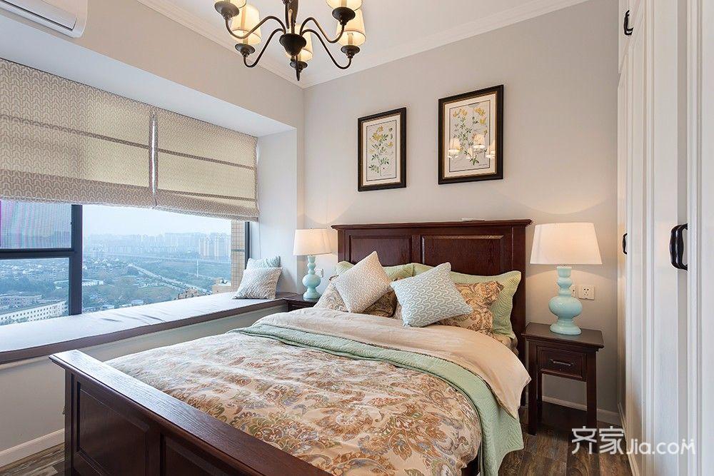 简约美式三居卧室装修效果图