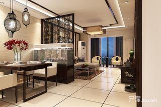 120㎡中式风格两居餐厅装修效果图