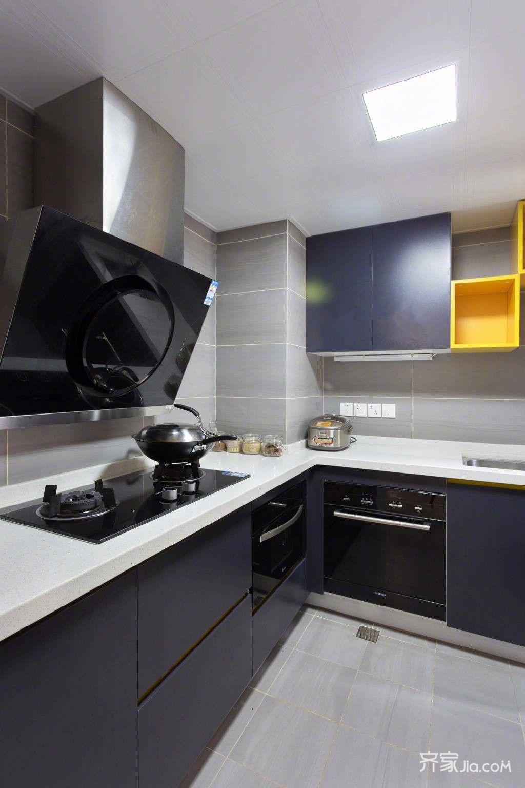 120㎡北欧风三居厨房装修设计图