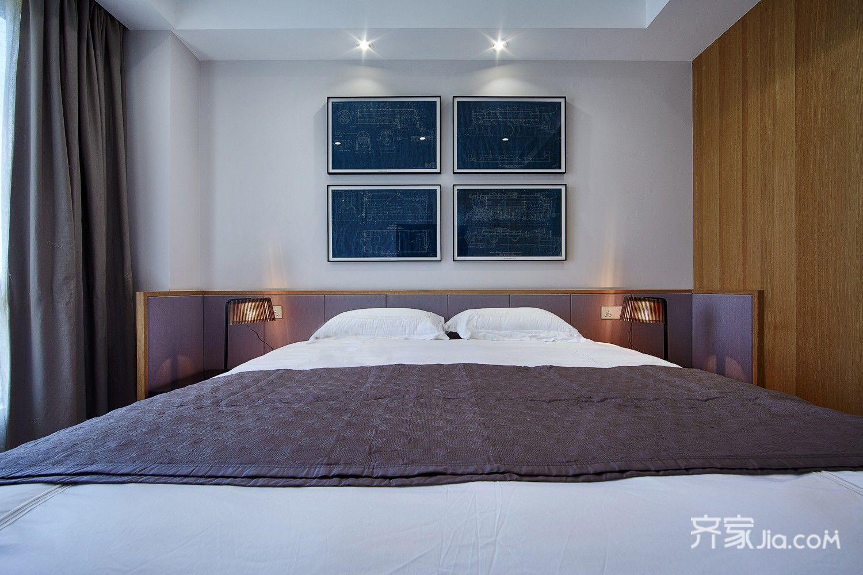 现代简约风格四居装修卧室效果图