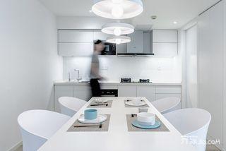 极简风格二居室厨餐厅装修效果图