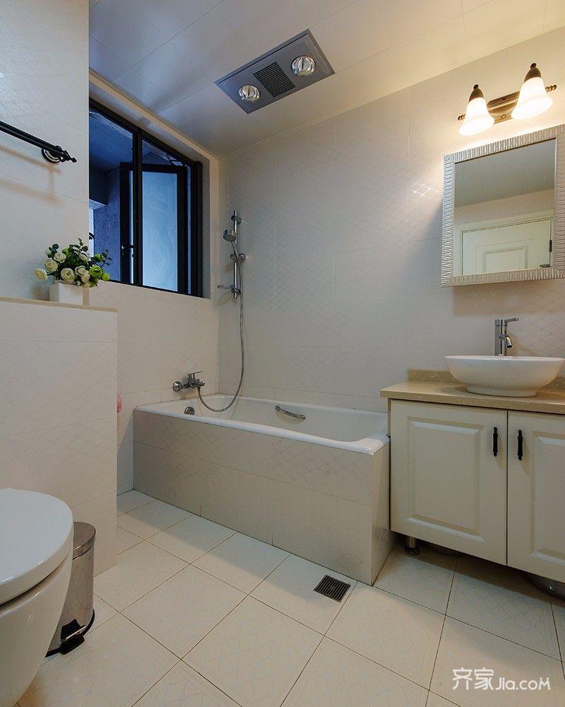 96平美式风格二居卫生间装修效果图