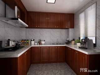130平中式风三居厨房装修效果图
