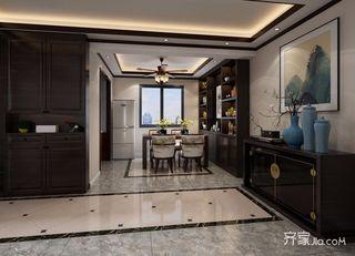 130平中式风三居餐厅装修效果图