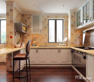 84平美式风格二居厨房装修效果图