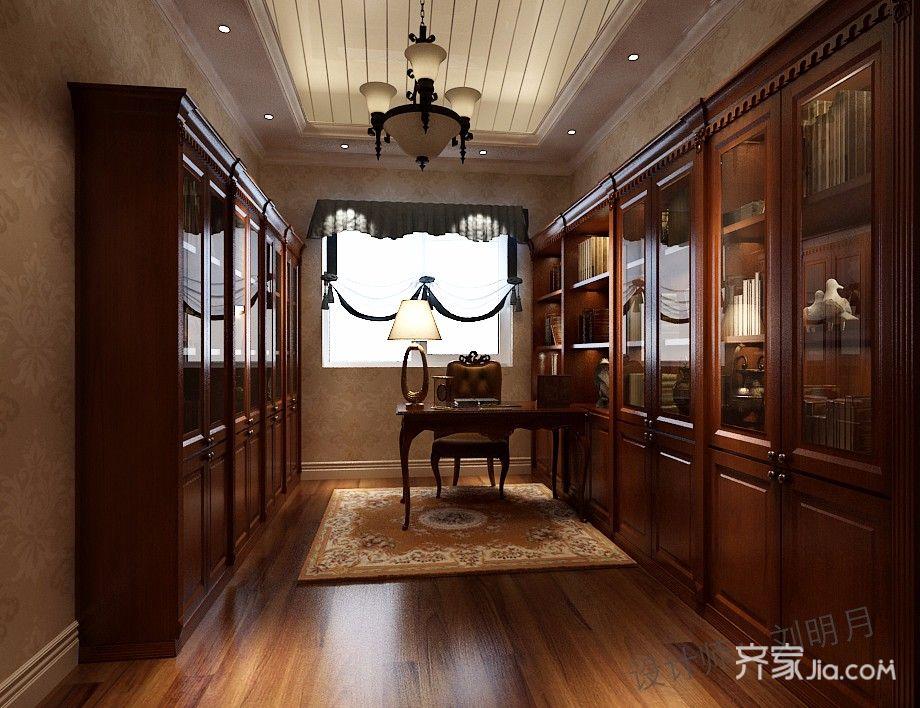 84平美式风格二居书房装修效果图