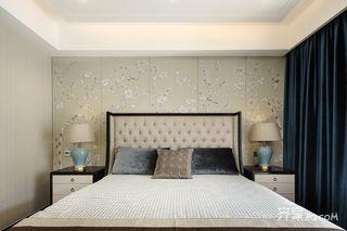 现代中式风格别墅装修床头背景墙设计图