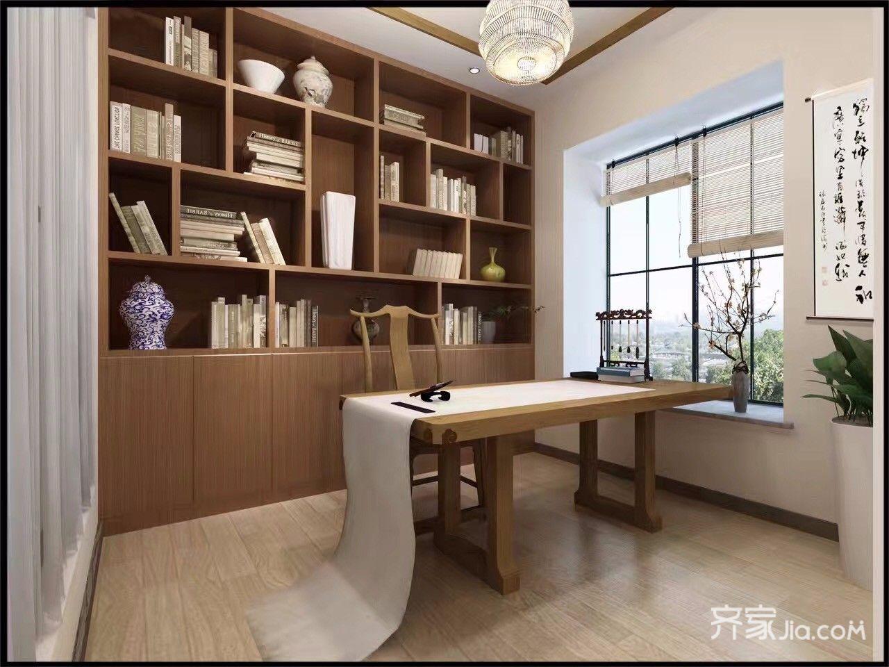 115平简约三居室书房装修效果图