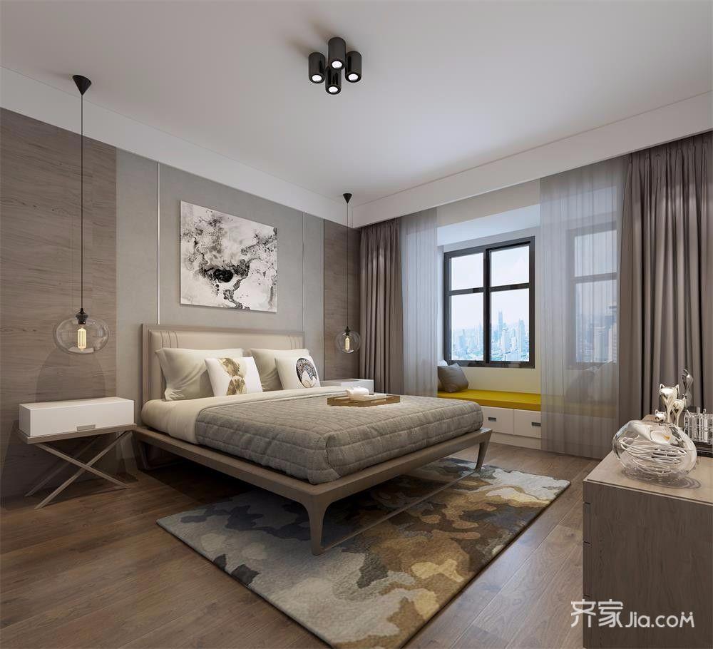 130平现代简约风格卧室装修效果图