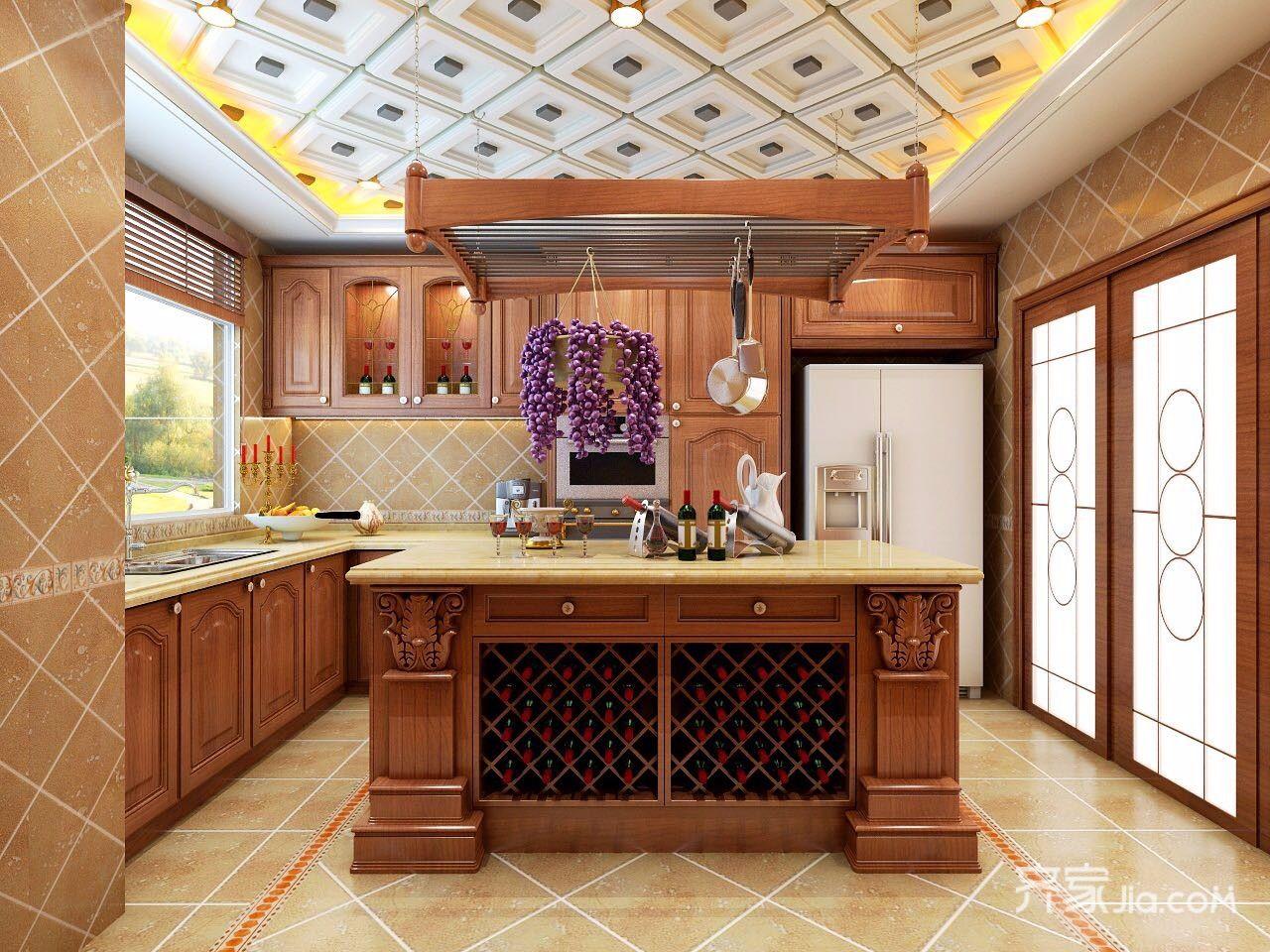 大户型混搭风格四房装修厨房效果图