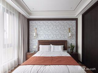 现代中式风格四居床头背景墙每日首存送20