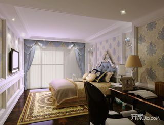 法式古典风格别墅卧室装修效果图