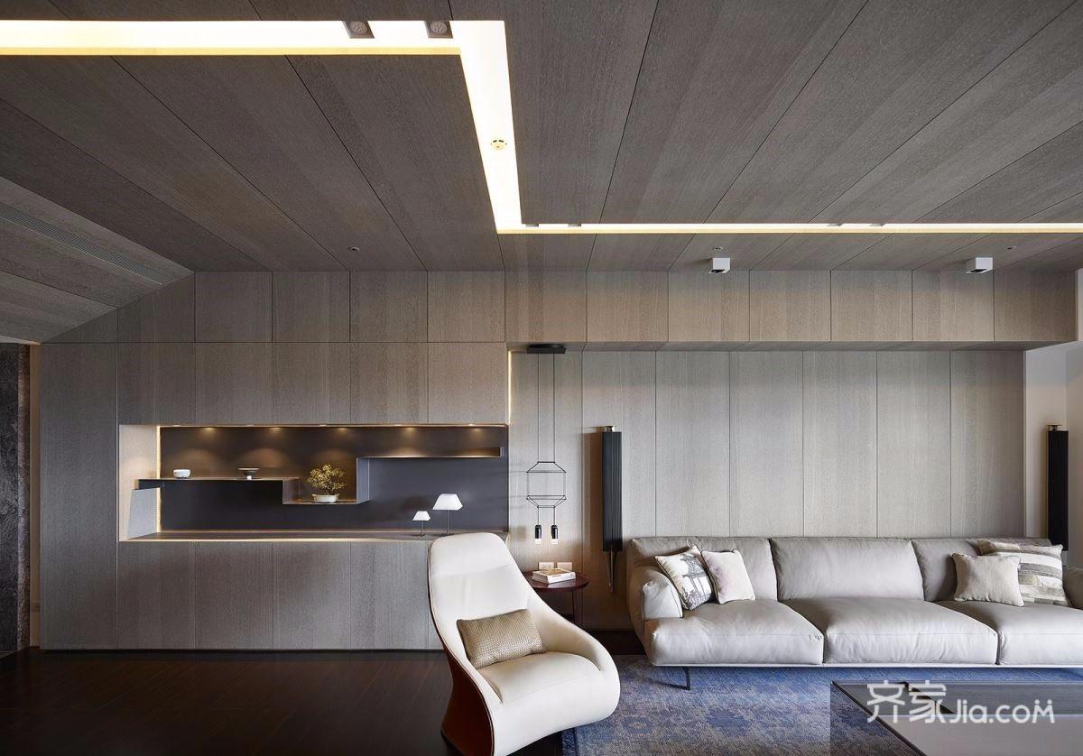 122平现代简约风格客厅装修效果图