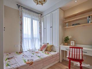 140平美式三居榻榻米卧室装修设计效果图