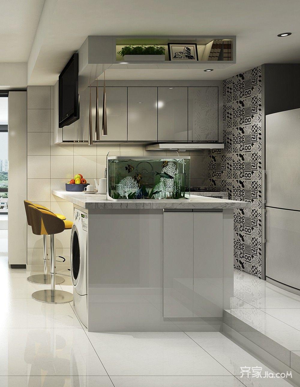现代简约风两居厨房装修效果图