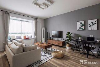 北欧混搭三居室装修设计效果图
