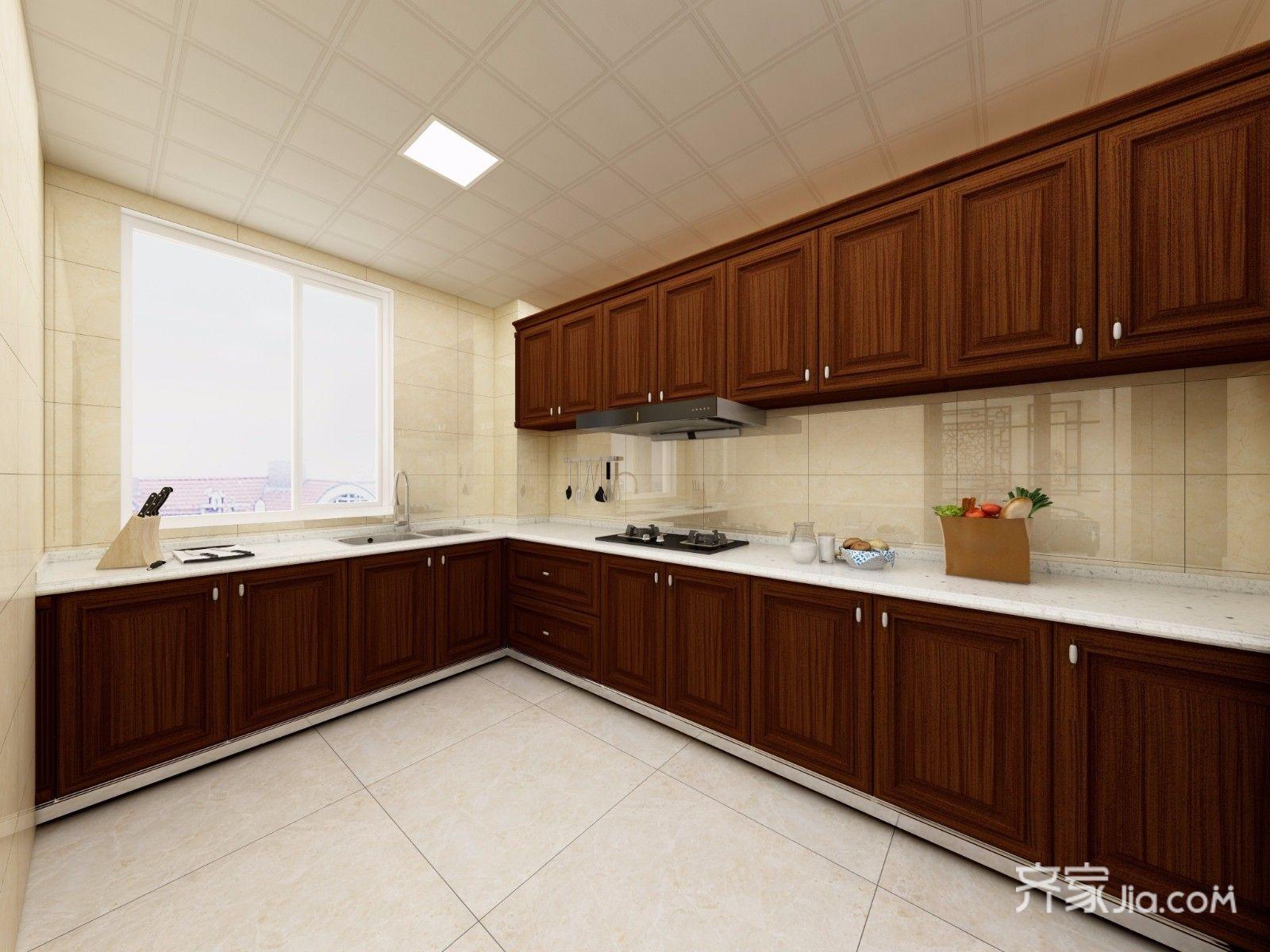 167平新中式风格厨房装修效果图