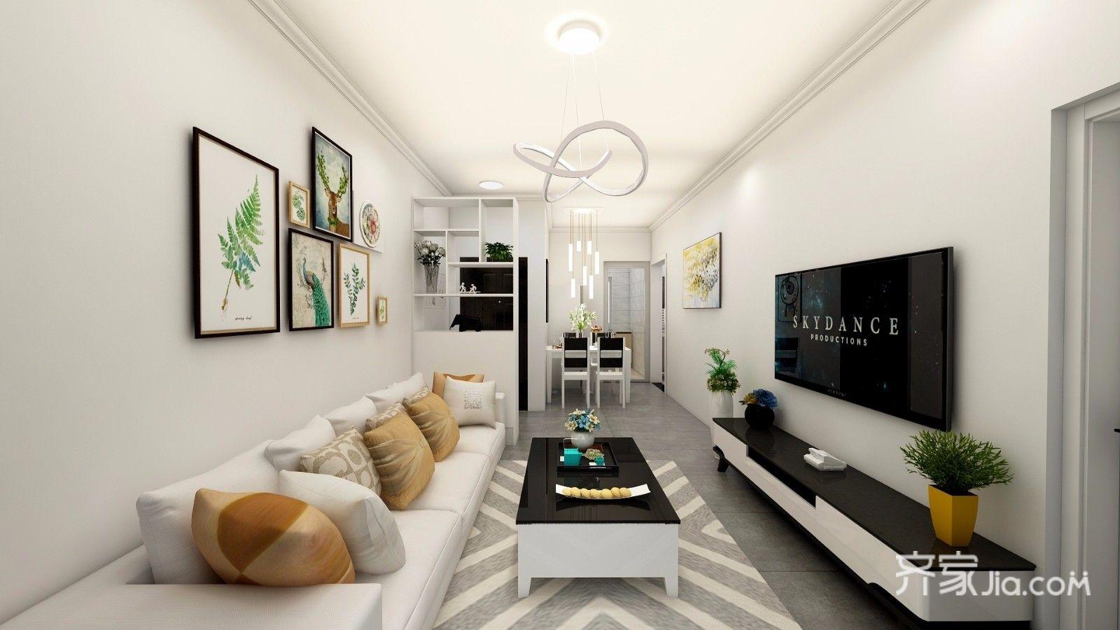 小户型现代简约风格客厅装修效果图